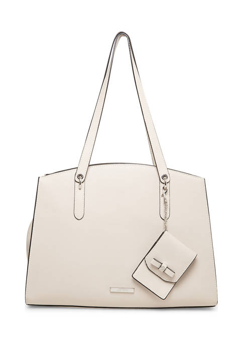Anne Klein Curved Top Satchel with Card Case