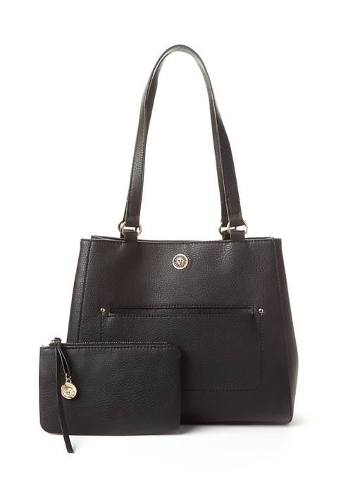 Anne Klein Logo 4 Poster Tote with Pouch