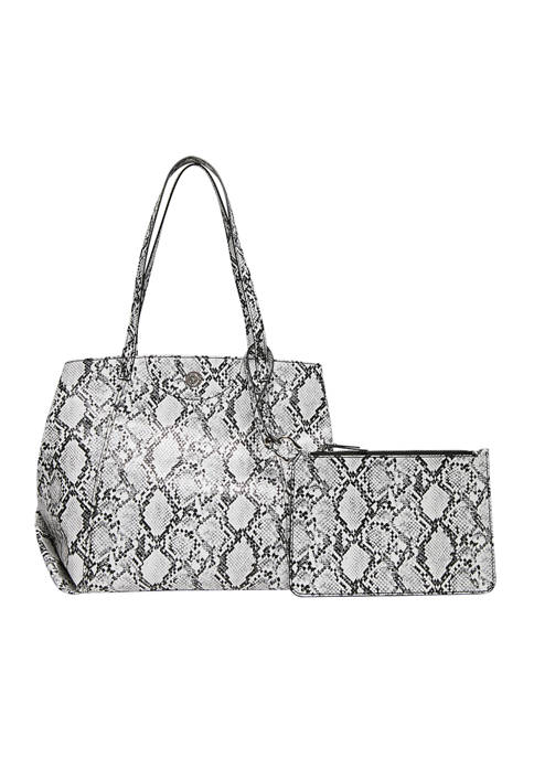Anne Klein Oversized Snake Tote