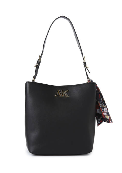 Anne Klein Soft Grain Lizard Shoulder Bag