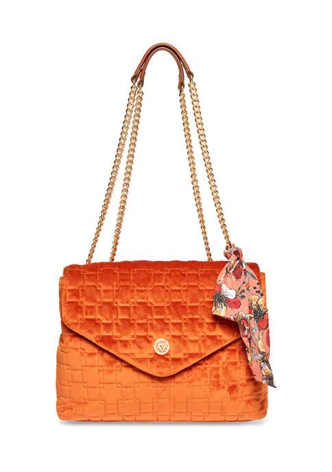 Anne Klein Velvet Shoulder Bag