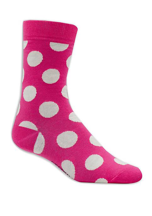 Crown & Ivy™ Big Dot Print Crew Socks