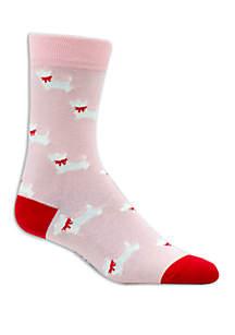 Allover Scotty Dogs Crew Socks