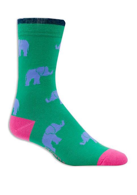 Crown & Ivy™ Allover Elephants Crew Socks