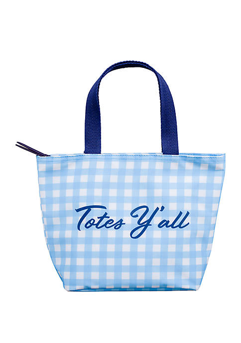 Gingham Totes Yall Lunch Tote Bag