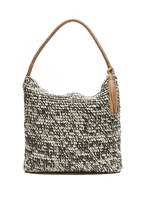 New Directions® Marled Straw Hobo Shoulder Bag