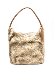 New Directions® Marled Straw Hobo Shoulder Bag