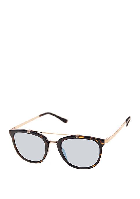 Raised Bar Tortoise Sunglasses