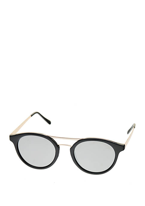 Combo Round Metal Top Bar And Temple Sunglasses