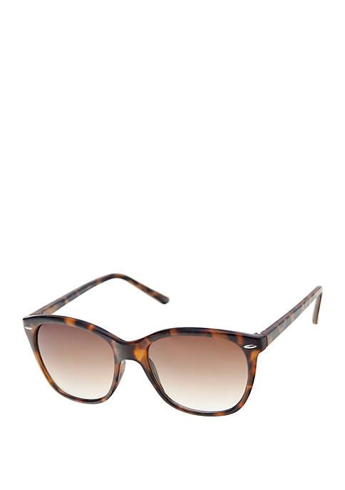 Large Plastic Rounded Wayfarer Sunglasses