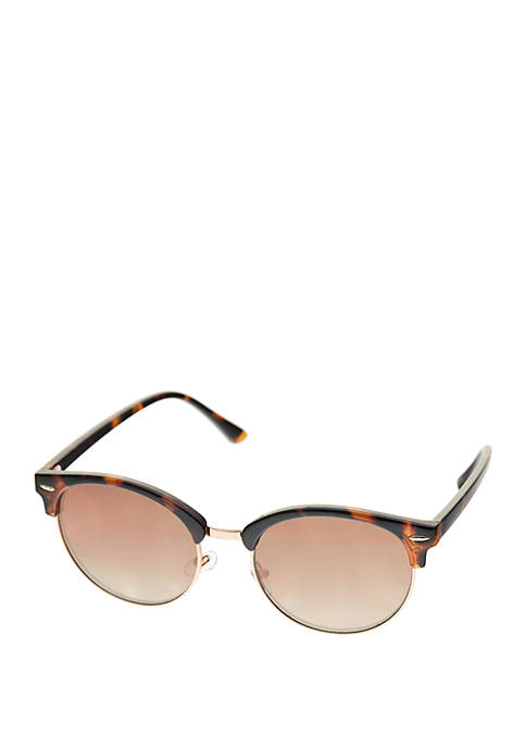 Crown & Ivy™ Plastic Large Rounded Sunglasses
