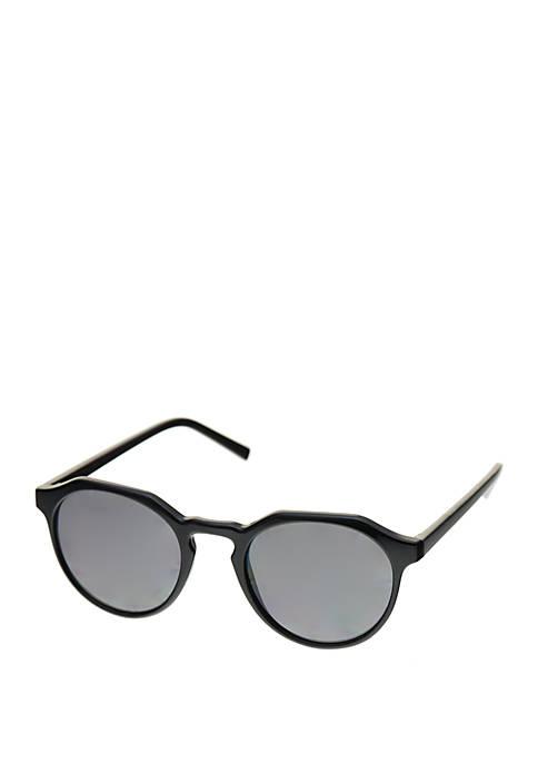 Plastic Angular Small Round Sunglasses