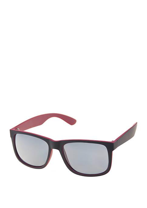 Crown & Ivy™ Modified Wayfarer Sunglasses