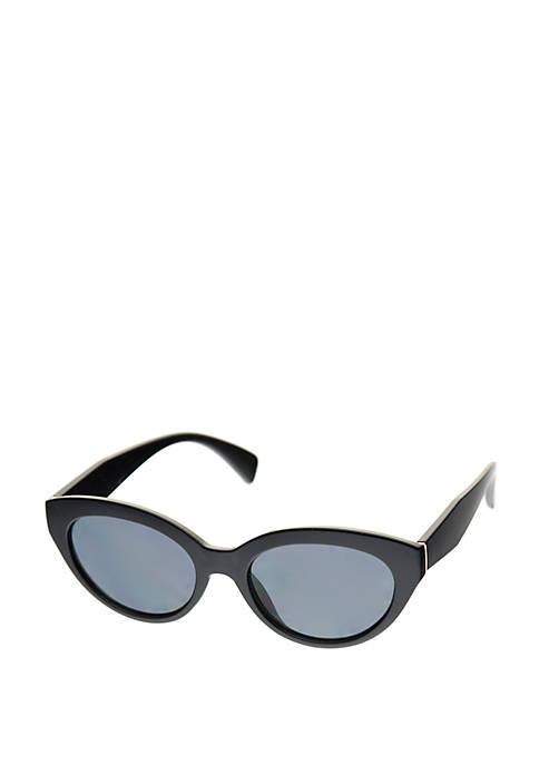 Crown & Ivy™ Small Plastic Cat Eye Sunglasses