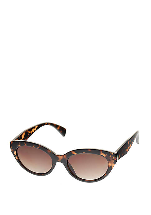 Crown & Ivy™ Small Plastic Cat Eye Sunglasses