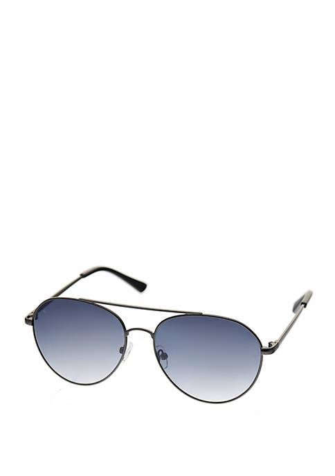 Crown & Ivy™ Medium Round Metal Aviator Sunglasses