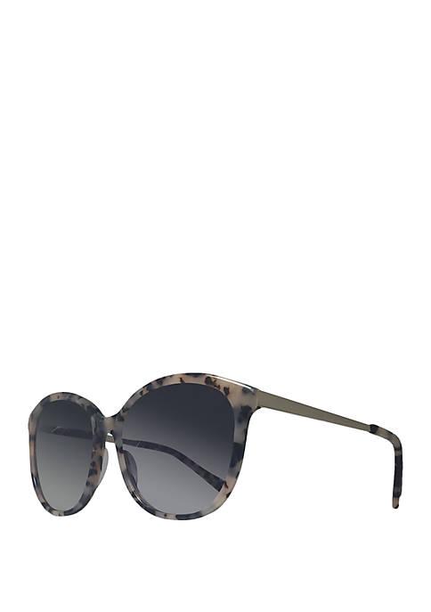 Draper James Carter Tortoise Round Sunglasses