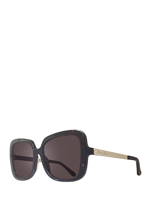 Draper James Marianna Square Tortoise Sunglasses