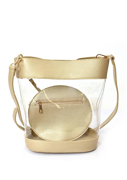 Crown & Ivy™ Clear Bucket Crossbody