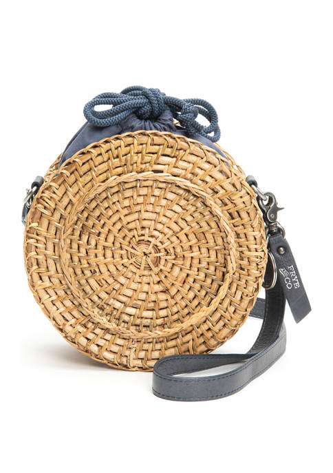 Frye & Co. Esme Straw Canteen Bag