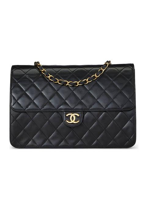 Chanel Black Lambskin Ex 10 Inch Crossbody - FINAL SALE, NO RETURNS