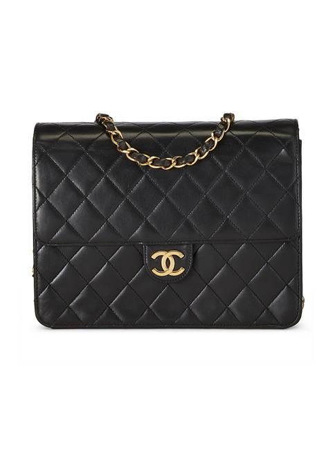 Chanel Black Lambskin Ex 9 Inch Crossbody - FINAL SALE, NO RETURNS