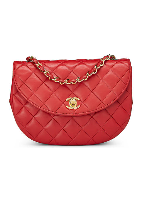 What Goes Around Comes Around Chanel Red Lambskin