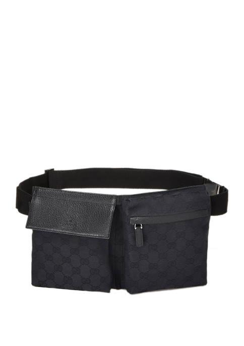 Gucci Black Guccissima GG Canvas Signature Belt Bag - FINAL SALE, NO RETURNS