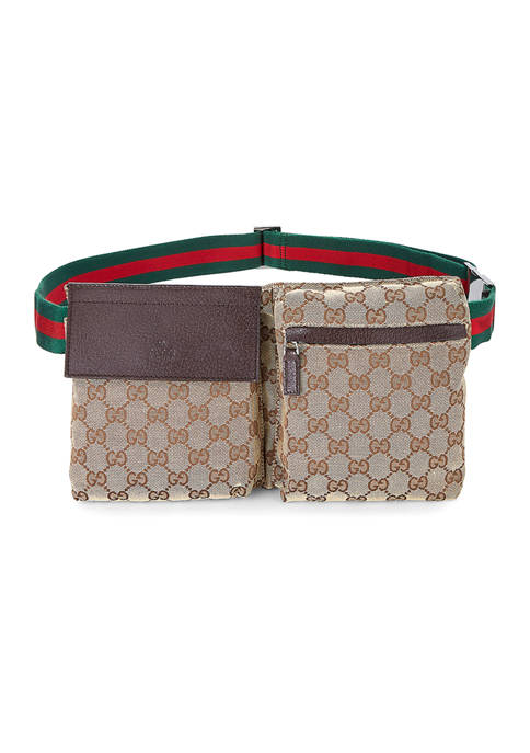 What Goes Around Comes Around Gucci Brown Canvas