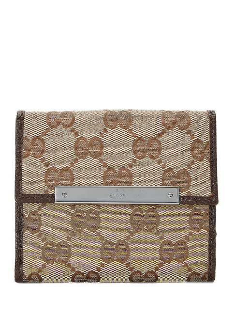Gucci Canvas French Wallet - FINAL SALE, NO RETURNS