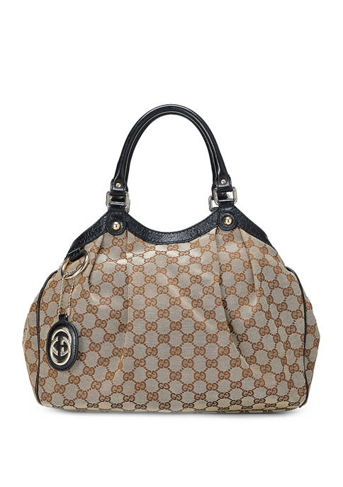 Gucci Black Canvas Sukey Bag - FINAL SALE, NO RETURNS