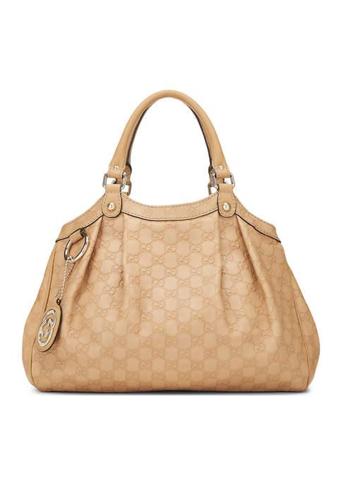 Gucci Beige Guccissima Sukey Bag-FINAL SALE, NO RETURNS