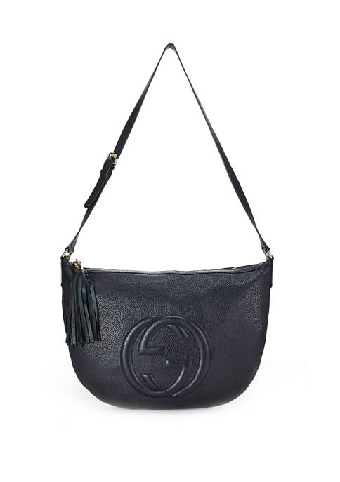 Gucci Black Leather Soho Messenger Bag - FINAL SALE, NO RETURNS