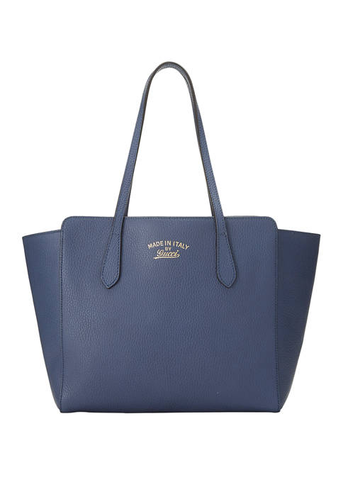Gucci Blue Leather Swing Tote - FINAL SALE, NO RETURNS