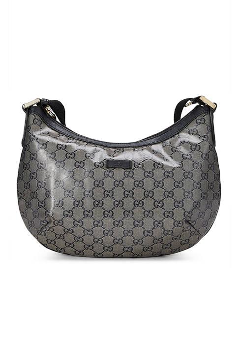 Gucci Navy Crystal Web Round Messenger Bag - FINAL SALE, NO RETURNS