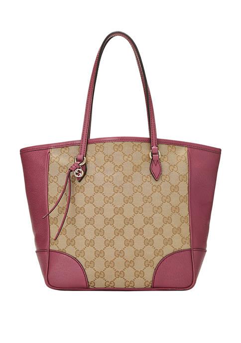 Gucci Pink Canvas Bree Tote Bag - FINAL SALE, NO RETURNS