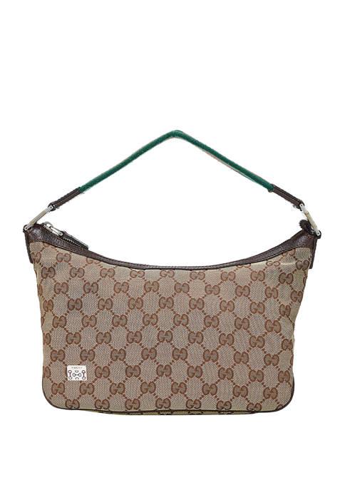 Gucci Brown Canvas Shoulder Bag - FINAL SALE, NO RETURNS