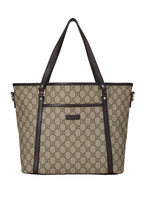 Gucci Brown Coated Canvas Tote - FINAL SALE, NO RETURNS