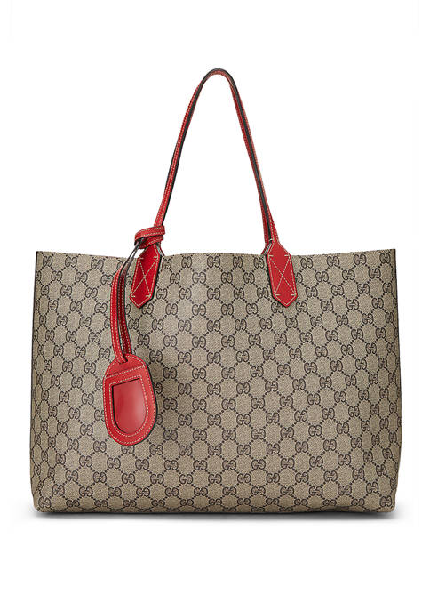 Gucci Red Coated Canvas Reversible Tote- FINAL SALE, NO RETURNS
