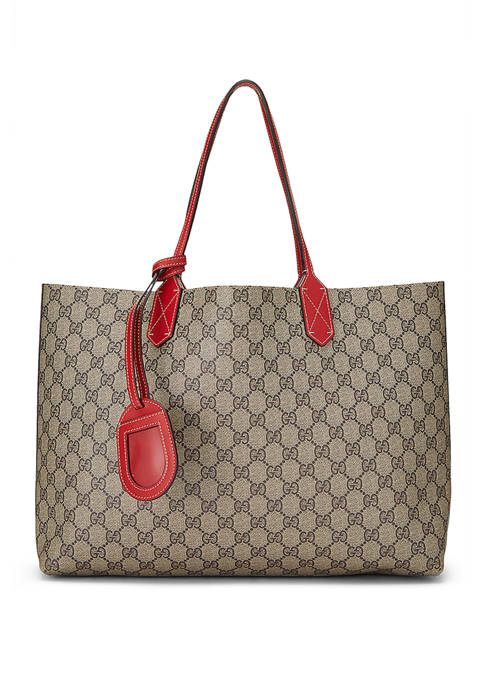 Gucci Red Coated Canvas Reversible Tote  - FINAL SALE, NO RETURNS