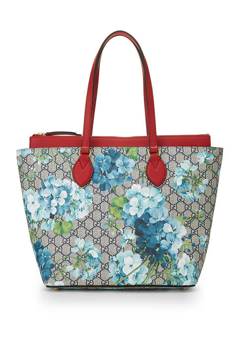 Gucci Red Coated Canvas Blooms Tote - FINAL SALE, NO RETURNS