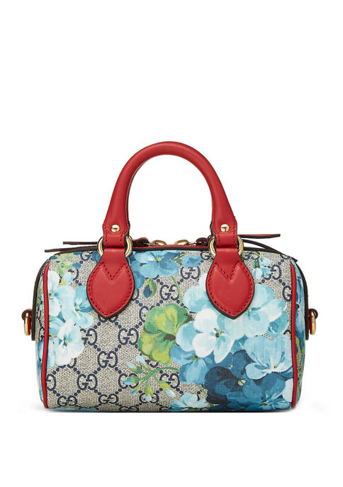 Gucci Red Supreme Coated GG Canvas Blooms Boston Bag Mini - FINAL SALE, NO RETURNS