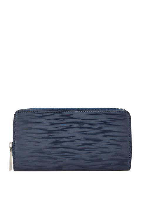 Louis Vuitton Navy Epi Zippy Wallet - FINAL SALE, NO RETURNS