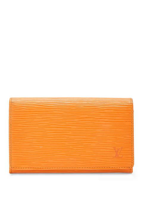 Louis Vuitton Orange Epi Tresor Wallet - FINAL SALE, NO RETURNS
