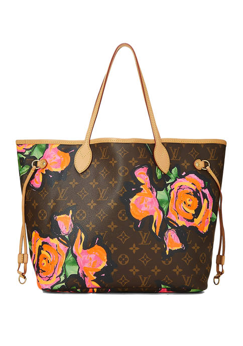 Louis Vuitton Brown Roses Neverfull MM Tote - FINAL SALE, NO RETURNS