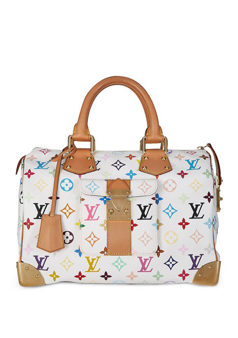 Louis Vuitton White Multi Speedy 30 - FINAL SALE, NO RETURNS