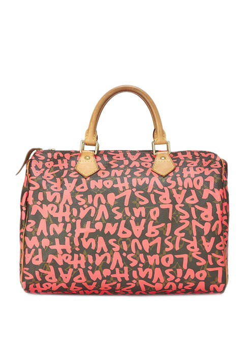 Louis Vuitton Stephen Sprouse x Louis Vuitton Pink Graffiti Speedy 30 Satchel - FINAL SALE, NO RETURNS