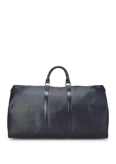 Louis Vuitton Black Epi Keepall 55 Duffel - FINAL SALE, NO RETURNS