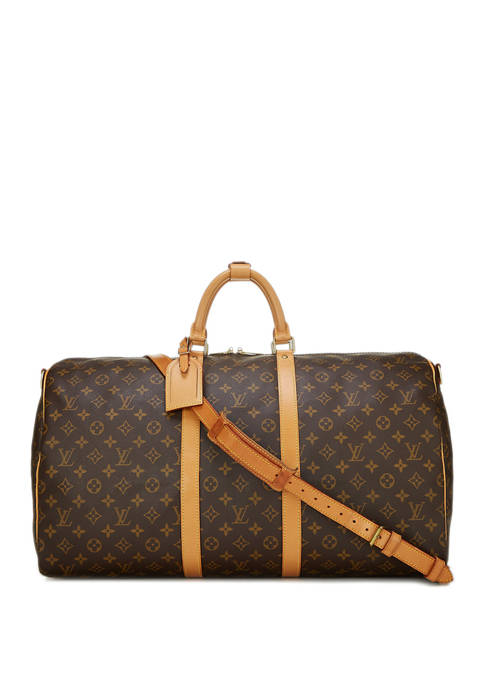 Louis Vuitton Monogram Canvas Keepall Bandouliere 55 Duffel - FINAL SALE, NO RETURNS