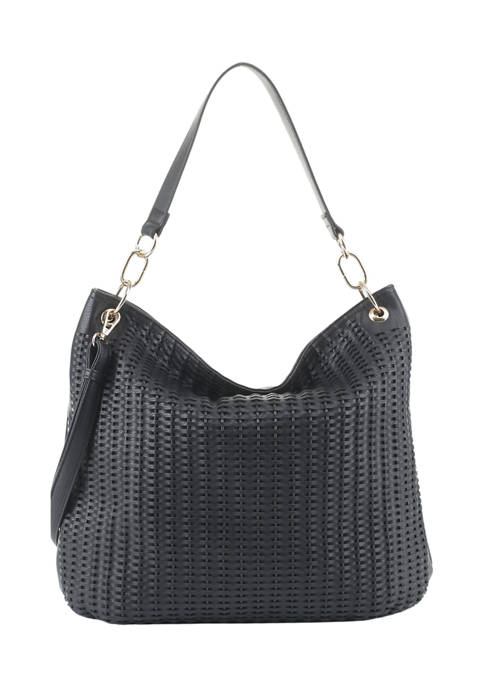 New Directions® Allover Whipstitch Hobo Bag
